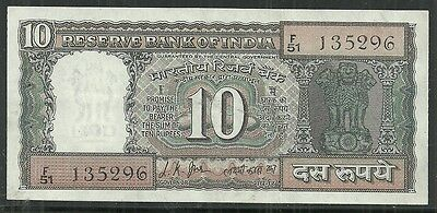 INDIA $10 RUPEES P.69a (UNC) FROM 1969-70.