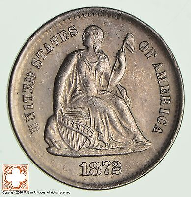1872-S Seated Liberty Silver Half Dime *2272
