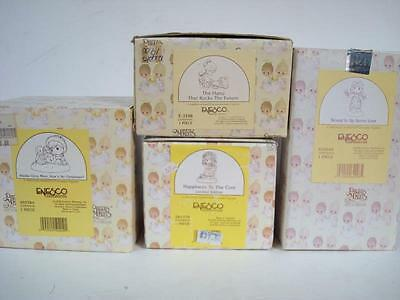 4 Precious Moments Figures - Christmas theme + more / All w/ boxes L@@K