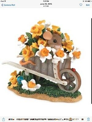 Charming Tails You're Over Flowing with Beauty Mouse daffodils Flowers Figurine
