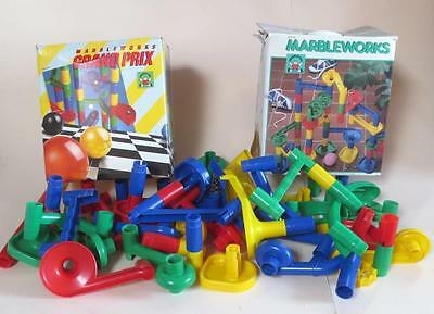 Marbleworks Discovery Toys Lot -  Marble Course Raceway 51 Pieces