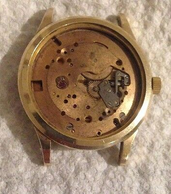 Omega Bumper Movement Cal 351, Case And Case Back For Parts Or Repair