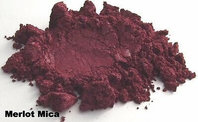 Merlot Red Mica Powder Natural Cosmetic Grade Home Makeup Soap Skincare Craft