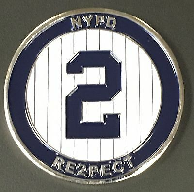 RARE 44th PRECINCT NYPD JETER RE2PECT CHALLENGE COIN BRONX YANKEES