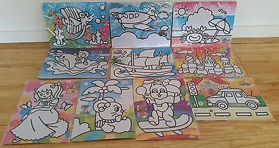 Sand Art Kit (36): Set of 10 Mixed Set for School Fete, Craft, Party (Brand New)
