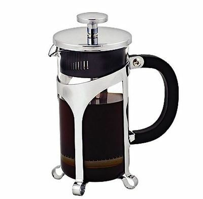 New Avanti Cafe Press Glass Coffee Plunger 1000ml / 8 Cup Manual Stainless Steel