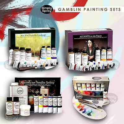 NEW Gamblin Artist's Oil Colours - Painting Sets Includes Mediums and Gamsol