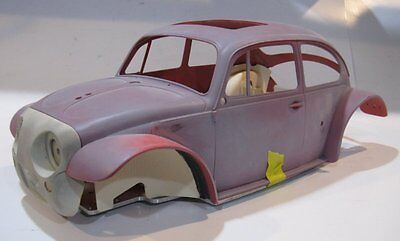 Tamiya Sand Scorcher Project VW bug aluminum chassis body Scale builder