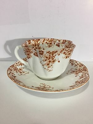 Vintage Shelley Dainty Brown Cup and Saucer. NMUC!