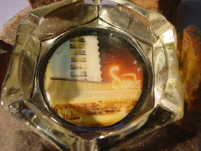 Odd Vintage Sands Hotel Las Vegas Ashtray On Lucite Plastic & Rocks Base