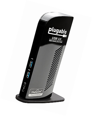 Plugable UD-3900 USB 3.0 Universal Docking Station with Dual Video Outputs for W