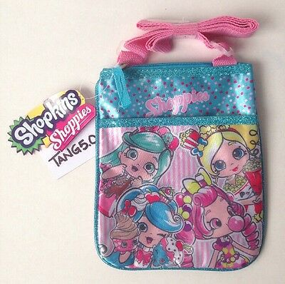 New With Tags Shopkins Shoppies Single Strap Purse Bag Peppa-Mint Jessicake +