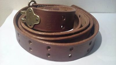M1907 Leather Sling Dated 1942 M1 Garand Springfield Drum Dyed Leather
