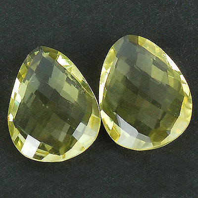 VVS 32.00 Cts/2 Pcs Matched Pair Natural Citrine Finest Gems for Earrings/Rings