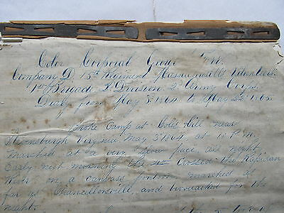 Nice POW Diary,    ANDERSONVILLE CAPTIVITY,    Florence, Prison, CSA, Civil War