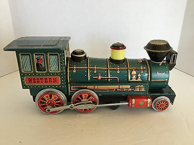 Vintage Battery Operated Western Locomotive Tin Train 1960's Modern Toys Repair