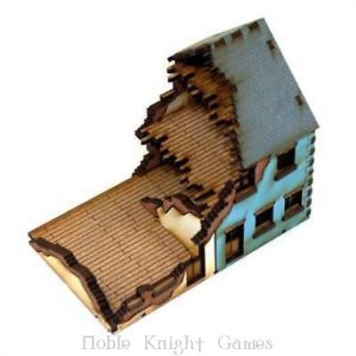 4Ground 15mm Europe At W Semi-Detached House #2 - Damaged (Pre-Painte Pack MINT