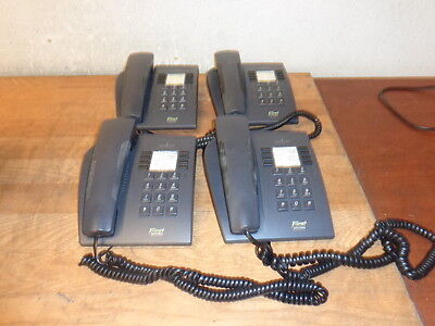 One Lot of 4 ALCATEL 4004 First Reflex Telephones Gray WORKING Free Shipping!