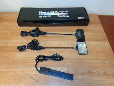 NOMADIC Prem-1 Display Light Kit w/2 Lights & Power Strip WORKING Free Shipping