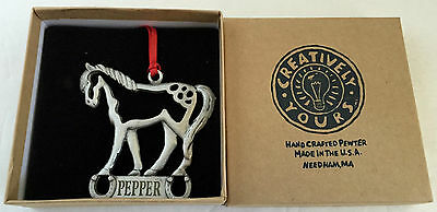 Creative Yours - Handcrafted Pewter Horse Ornament - Pepper