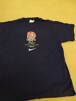 England 2003 Rugby World Champions T Shirt (M)