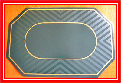 New! Set of 6 Green & Gold Kitchen Placemats Place Mats Dinner Table Decor