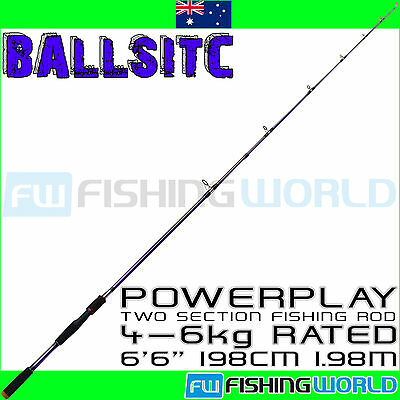 """BALLISTIC POWERPLAY 198 6'6"""" 1.98m 4-6kg COMPOSITE CARBON SPINNING FISHING ROD"""