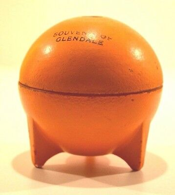 Vintage Glass Orange Jar Glendale Souvenir California Citrus Florida