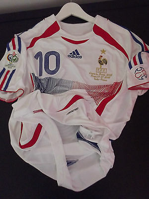 Maillot France Foot Zidane N°10 Finale Jersey Trikot Real Madrid Shirt Taille L