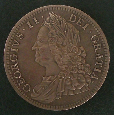 1746 George II Crown, Copy, (FREE UK POSTAGE AVAILABLE), Same size & Weight