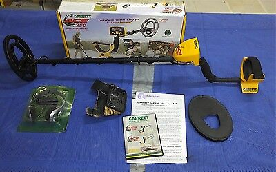 Garrett Ace 250 metal detector, with extras, boxed, used once