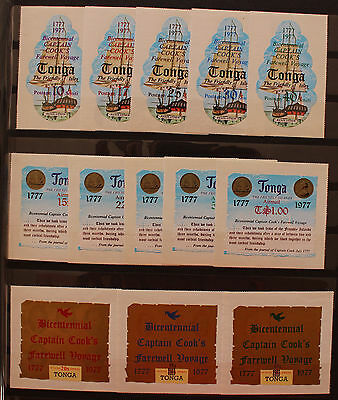 Tonga 1977 Bicentenary of Captain Cooks Last Voyage Set MNH 13v