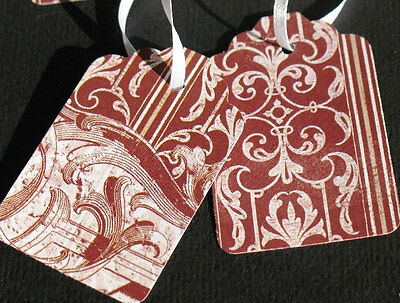Burgundy Brocade - Any Occasion Gift Tags