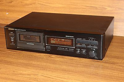 ONKYO Stereo Cassette Tape Deck TA-R410 Auto Reverse Vintage Tested Works Great""