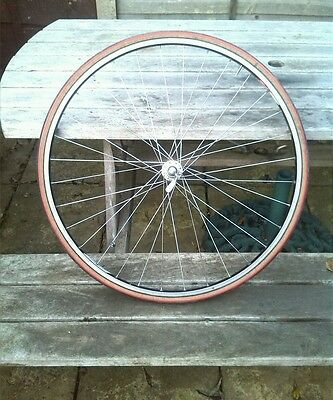 Vintage Campagnolo front wheel Chorus hub late 80s 90s Campag Omicrom Rim Eroica
