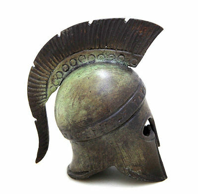 Ancient Greek Bronze Museum Replica Vintage Athenian Battle Helmet Collectable