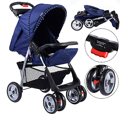 Baby Stroller Buggy Pushchair Foldable Kids Travel Newborn Infant Child Single