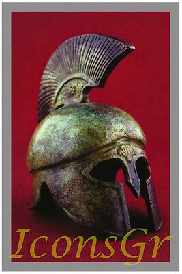 Ancient Greek Bronze Museum Replica Vintage Spartan Soldier Battle Helmet 300