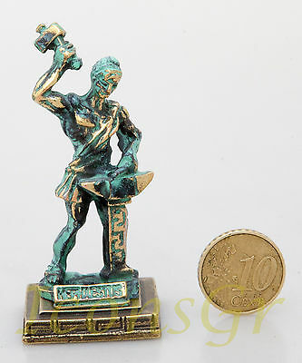 Ancient Statue Hephaestus Greek Miniature Olympian God Pantheon Sculpture Zamac
