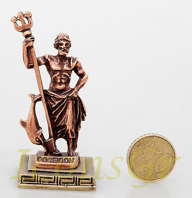 Ancient Statue Poseidon King Of Sea Olympian God Miniature Sculpture Zamac