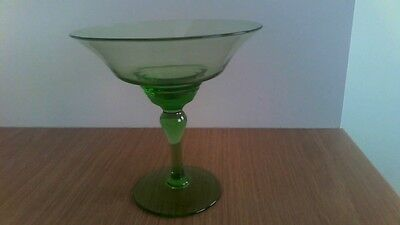 Green Glass Sweetie Bowl