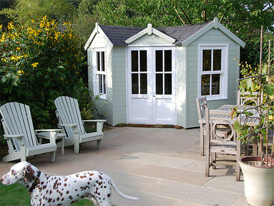 Corner Summer House, 'Comes Painted' Garden Office, log cabin