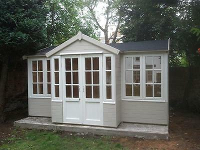 T Shaped Summer House, 'Comes Painted', Garden Office, log cabin