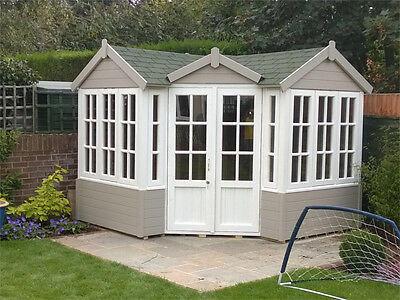 WINTER SALE: The french Corner Summer House, 'Comes Painted', Office, log cabin