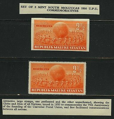 1950 South Muluccas The Forgotton War In The Pacific Ocean Indonesia Area Stamps