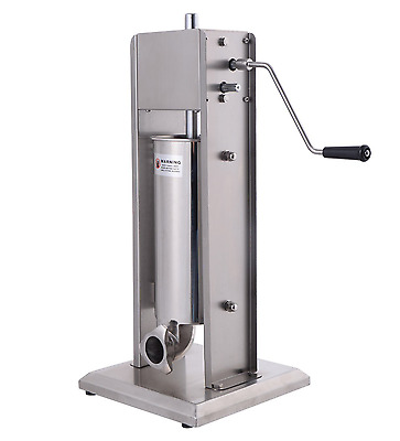 Sausage Stuffer Vertical 5L Press Lard Meat Filler Commercial Home Stainless