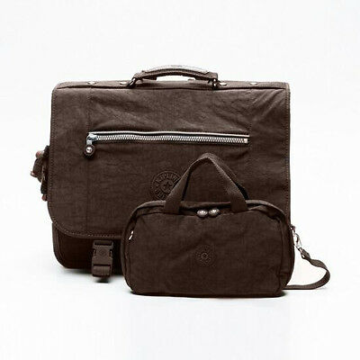 Kipling Cartable + trousse New Wolly L