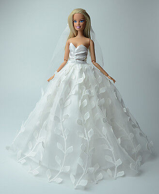 Fashion Royalty Princess Dress/Clothes/Gown+Veil For Barbie Doll S503