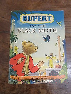 1950 Copy Of Rupert And The Black Moth Adventure Series No. 6 For Daily Express