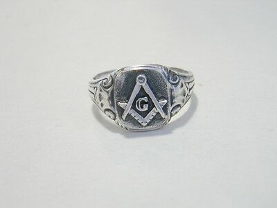 MASONIC RING STERLING SILVER all size